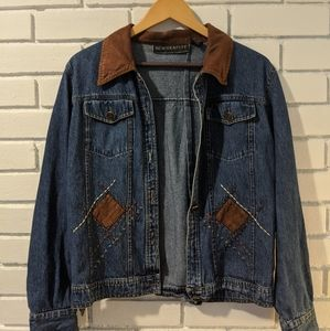 Vintage Jean Jacket With Suede Accents